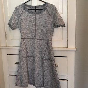 Athleta heather gray dress modern stretch zipper